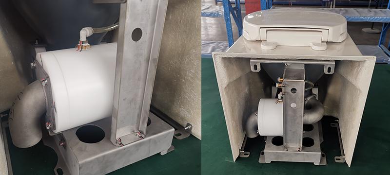 pneumatic pinch valve in vacuum toilet